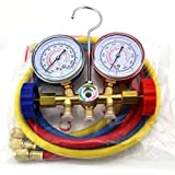 DUSICHIN DUS-134 HVAC Refrigeration Charging Service Kit Car AC Manifold Gauge Set R22 R502