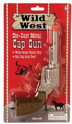 Toysmith Wild West Metal Cap Gun  2 Pack