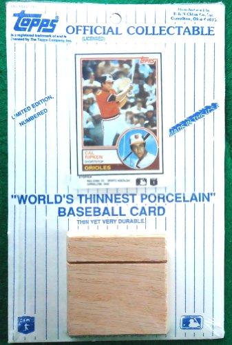 World Porcelain - Worlds Thinnest Porcelain Baseball Card 1983 Cal Ripken Limited Edition
