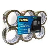 Scotch Cinta de Empaque Canela, 48mmX100m, Paquete de 6
