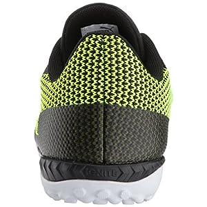 PUMA Men's 365 Ignite ST Soccer Shoe, Black Black-Safety Yellow White, 9.5 M US