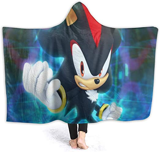 Amazon Com Sonic The Hedgehog Bedroom Hooded Blanket Little Kids Size Warm Cozy Extra Soft Sonic The Hedgehog Wallpaper Ipad Pro 50 X 40 Inch Home Kitchen