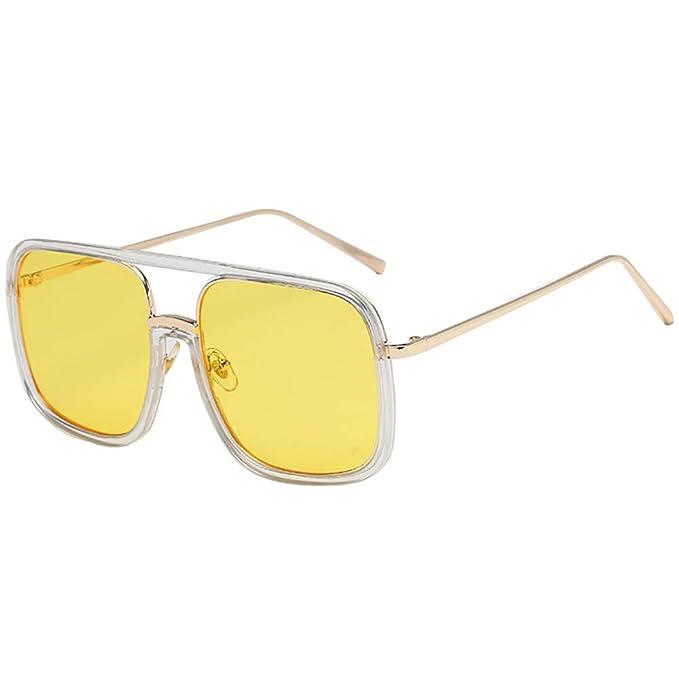SHEEN KELLY Gafas de sol cuadradas de gran tamaño Gafas de ...