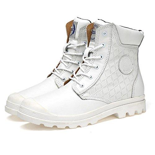 cotton Inverno cima Martin Boots White E Manuale plus All'aperto In NANXZ Autunno Anti libero Pelle Uomo Tempo collisione Pizzo wqSzFUt