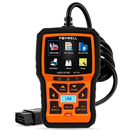 FOXWELL Nt301 Obd2 Code Scanner Universal Car Engine Diagnostic Tool Automotive Fault Code Reader CAN Obd II Eobd Scan - Check Cable Analyzer
