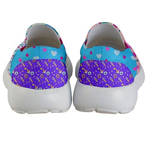 PattyCandy Girls Love Unicorn Prints Lightweight Slip On Shoes - US 2Y by PattyCandy (Image #3)