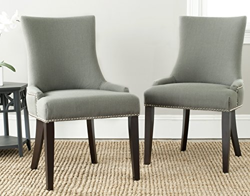 Safavieh Mercer Collection Lester Dining Chairs, Light Granite, Set of 2