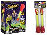 Stomp Rocket Ultra Rocket LED with Ultra Rocket LED Refill Pack, 6 Rockets [Packaging May Vary]