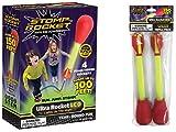 Stomp Rocket Ultra Rocket LED with Ultra Rocket LED Refill Pack, 6 Rockets [Packaging May Vary]