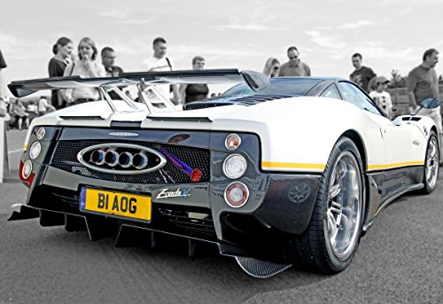 - Quality Prints - Laminated 23x16 Poster Pagani Zonda PS Rear