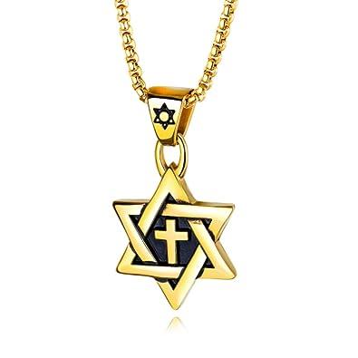 Blowin - Collar con Colgante de Estrella de David judía de ...