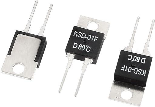 Aexit AC 250V 1A KSD-01FD 80C NC Interruptor de control de ...