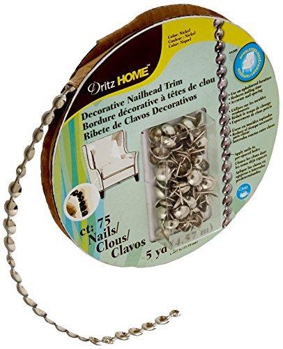 Dritz 44286 Upholstery Nailhead Trim, Silver, 5-Yard by Dritz (Trim Brass Nailhead)