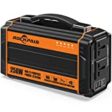250-Watt Portable Generator Power Source Power Inverter, 222WH CPAP Battery Pack Home Camping