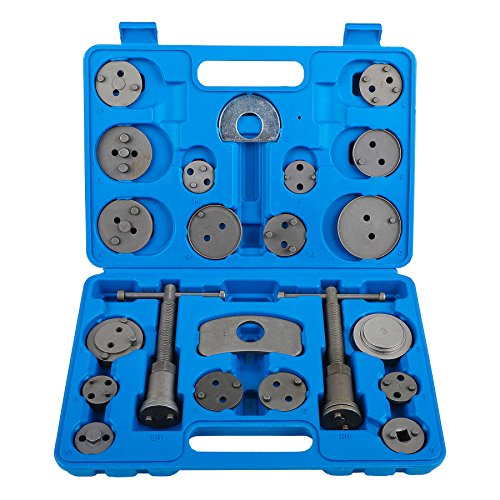 OrionMotorTech 22pcs Heavy Duty Disc Brake Piston Caliper Compressor Tool Set and Wind Back Kit for Brake Pad Replacement, Fits Most American, European, Japanese Models (Brake Pads Service)