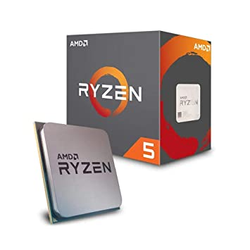 Image result for AMD Ryzen 5 2600 Desktop Processor 6 Cores up to 3.9GHz 19MB Cache AM4 Socket (YD2600BBAFBOX)