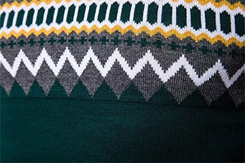 De Tricot Col Ajustée En Coton D'hiver Dessus Hommes Rembourrage Rond Norway Coupe Pull Grau Pour H0Sqw