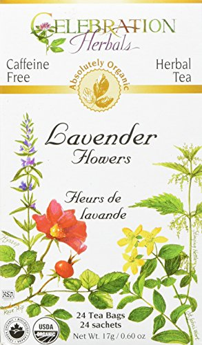 CELEBRATION HERBALS Lavender Flowers Tea Organic 24 Bag, 0.60 Ounce