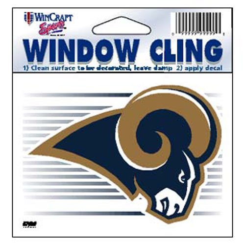 (St. Louis Rams NFL 3x3 Static Window Cling Decal)