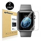 [2-Pack] Apple Watch 42mm Smart Watch Screen Protector, HoPerain [Tempered Glass] 9H Hardness, Anti-Scratch, Anti-Fingerprint