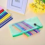 SAKOLLA 5 Pieces Clear Zipper Pencil Bag, Plastic