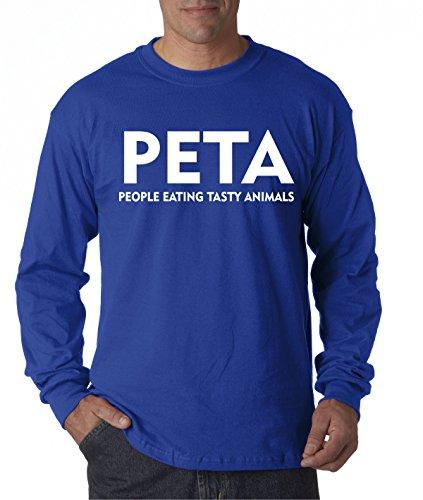Tasty People Animals Eating (New Way 608 - Unisex Long-Sleeve T-Shirt PETA People Eating Tasty Animals Parody 2XL Royal Blue)