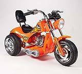 BIG TOYS DIRECT Kids 12V Red Hawk Motorcycle in Orange