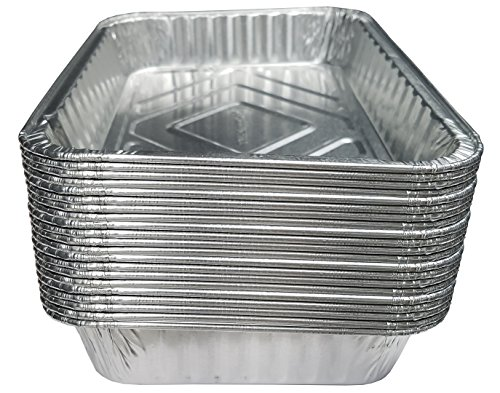 Water Replacement Pan (TYH Supplies Set of 20 Small Disposable 7-1/2-Inch by 5-inch BBQ Drip Pan Tray Aluminum Foil Tin Liners for Grease Catch Pans Replacement Liner Trays 7.5