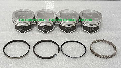 Mercury Mercruiser 140 Chevy Marine 3.0 3.0L 181 Dish Top Pistons Rings Kit (STD Bore) (Kit Std Bore)