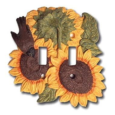 Sunflower Kitchen Decor Double Switch Plate Cover