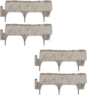 product image for Suncast Landscape Design Border Decorative Natural Rock Stone Edging (4 Pack)