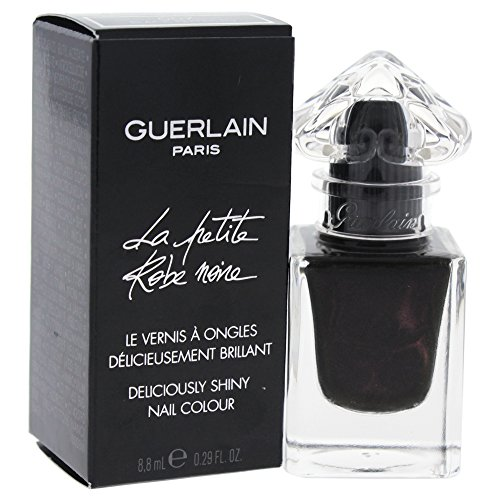 Shiny Black Lacquer - Guerlain La Petite Robe Noire Deliciously Shiny # 007 Black Perfecto Nail Color for Women, 0.29 Ounce