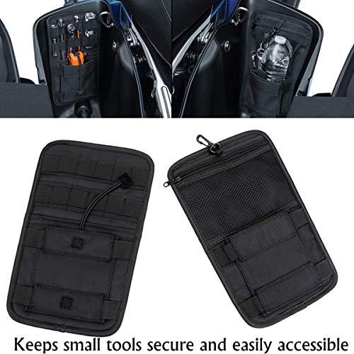 Vehicle Motorcycle Bike Universal Internal Saddle Bags Small Tools Organizer Bags, Black (Best Bike Tool Kit 2019)