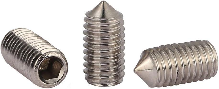 M5 x 4mm 50pcs//lot M5 5mm A2 Stainless Steel Cone Point Grub Hex Socket Set Screws Metric DIN914
