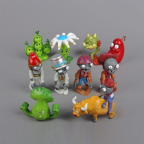 [10PCS/Set Plants vs. Zombies 2 Series PVC Action Figure Model Toy Decoration] (Annoying Orange Kids Costumes)