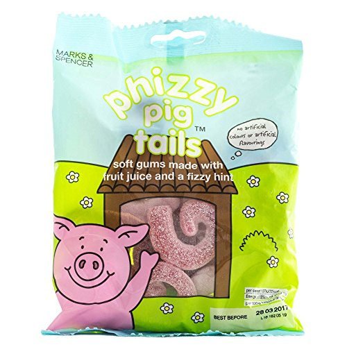 Marks & Spencer | Percy Pigs -Phizzy Pig Tails | 4 x 170g Bags | REDUCED FOR BLACK FRIDAY SALES - Marks Sale Spencer And