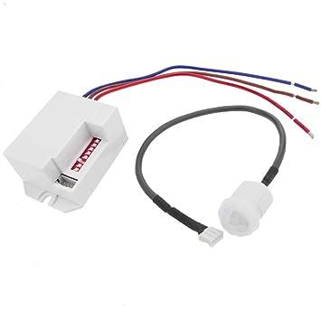 Cablematic - Detector de movimiento por infrarojos de techo empotrable mini: Amazon.es: Electrónica