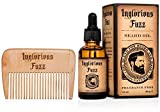 Beard Oil with Beard Comb by Inglorious Fuzz - Vintage Beard Hair &...