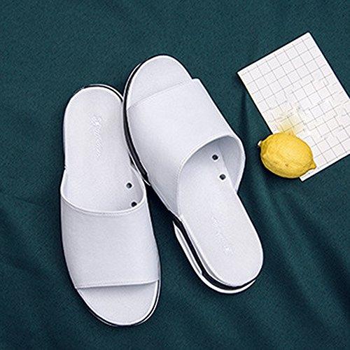 Blanco Sandalias Verano Casual Apartamento ALIKEEY Zapatillas Playa Transpirable Sandalias Hombres Zapatos Casa qXTwXxPI