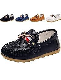 WUIWUIYU Baby Kids Boys Girls Slip-on School Loafer Moccasin Shoes(Toddler, Little Kid)