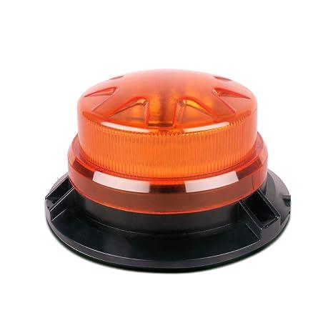 Amazon.com: Luz estroboscópica LED 12 V-24 V ámbar 12 LED ...