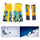 Vbestlife 1 Pair Hiking Leg Gaiters for Youth Teenagers, Breathable Waterproof Outdoor Sports Walking Climbing Hiking Walking Hunting Legging Gaiters Snow Boot Gaiters Warmth Shoe Cover