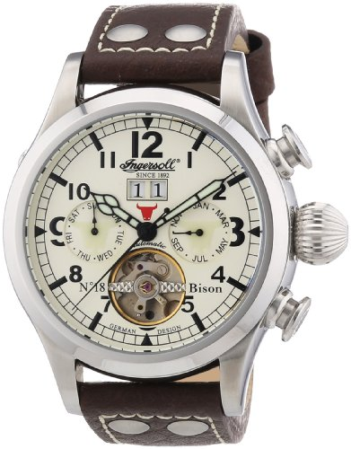 Ingersoll Men's Automatic Watch IN4506CH with Leather Strap