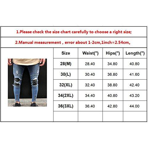 Juleya Buco Skinny 28 5 Fit Fori Uomo Colori 38 Distrutti Slim Confortevole Nero Elastico Jeans Denim Stretch rOwFqYZr