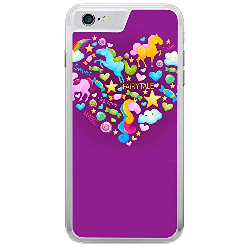 Image Of Fairytale Elements within a Heart on Purple Apple iPhone 7 Phone Case
