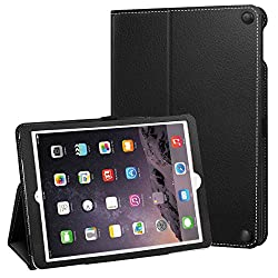 Apple New iPad Case 9.7 Inch (2017 New Model), Ztotop Folio PU Leather Ultra Slim Design Protective Smart Stand Case Cover with Auto Wake / Sleep For Apple New iPad 2017 Black