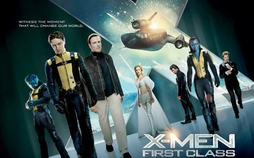 XMen - First Class Movie Art Print — Movie Memorabilia — 11x17 Poster, Vibrant Color, Features James McAvoy, Michael Fassbender, Rose Byrne, Jennifer Lawrence, January Jones, Nicholas Hoult, Oliver Platt, - Lawrence Jennifer Glasses