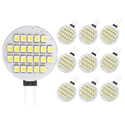 - GRV G4 24-3528 SMD LED Bulb lamp Super Bright Cool White AC 12V DC12V -24V Pack of 10
