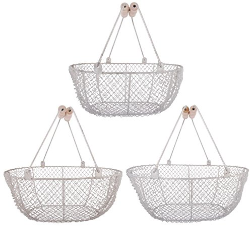 Esschert Design W2026 Harvest Basket - Set of 3 (Garden Uk Patio Sets)