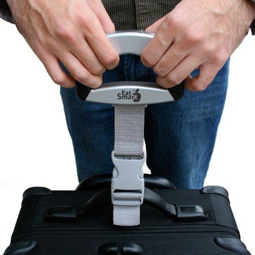 EatSmart Precision Voyager Digital Luggage Scale w/ 110 lb. Capacity & SmartGrip, Gray
